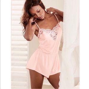 Victoria's Secret Crochet Lace Romper